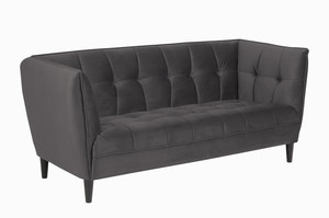 Sofa Jonna Velvet Dark Grey - ACTONA